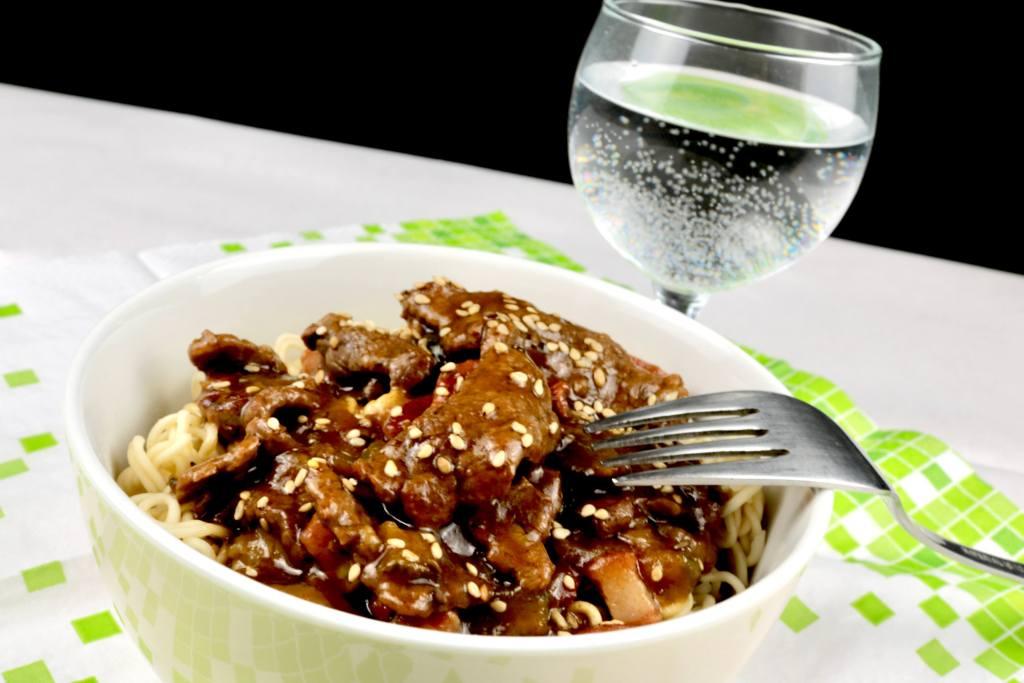 Schnelle Rezepte Rouladen Geschnetzeltes aus dem Wok mit Sesam
