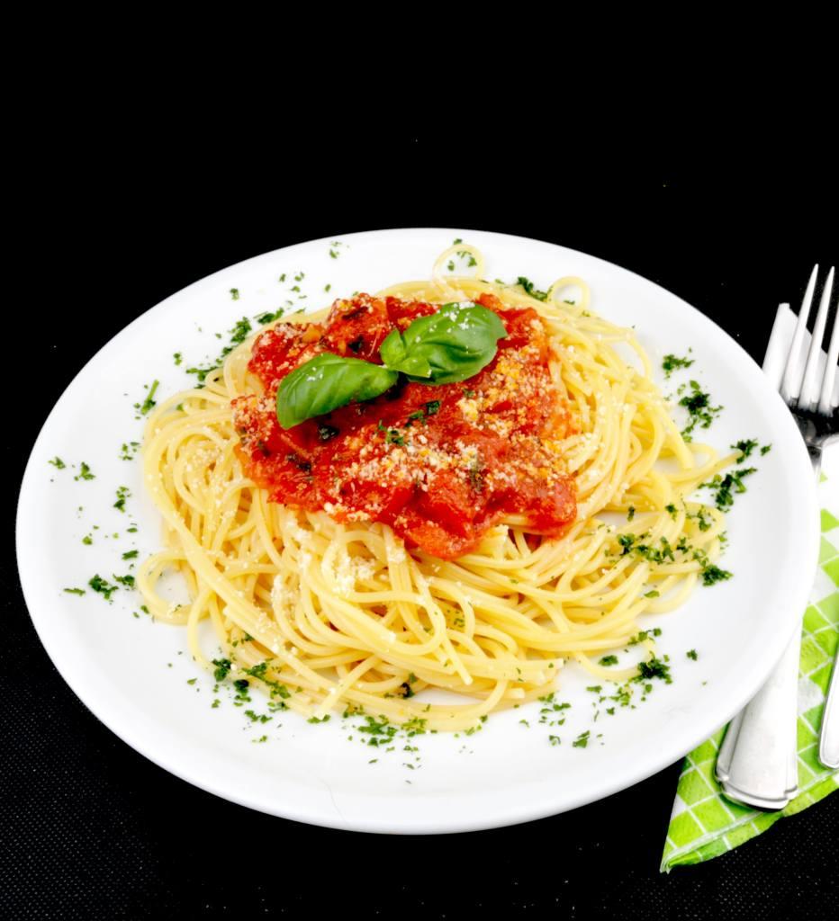 Serviervorschlag Spaghetti Al Pomodoro