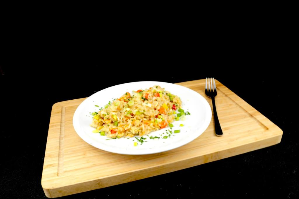 Feierabend Gericht Gebratener Reis mit Ei und Gemüse