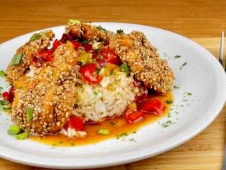 Honig Chili Sesam Hähnchen