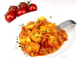 Tortellini Tomaten Hackfleisch Pfanne