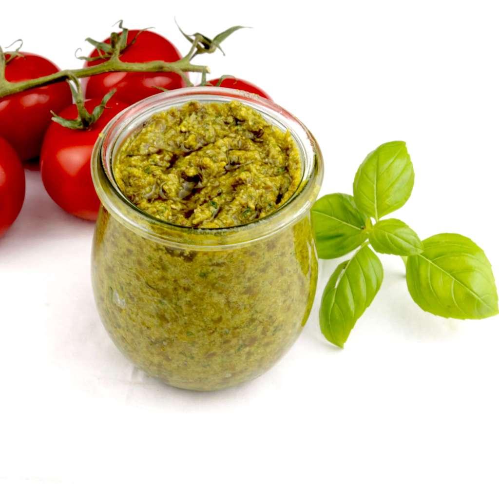 Basilikum Pesto Zubereitung