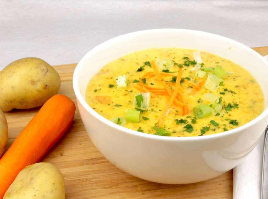 Vegetarische Kartoffelsuppe