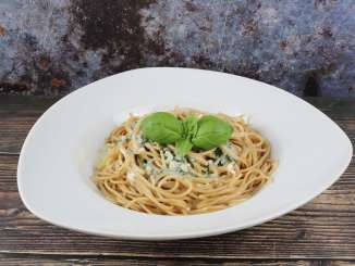 Vollkorn Spaghetti mit Gorgonzola Sauce