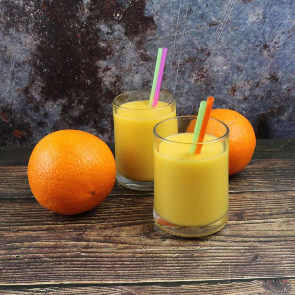 Zubereitung Orangen Mango Smoothie