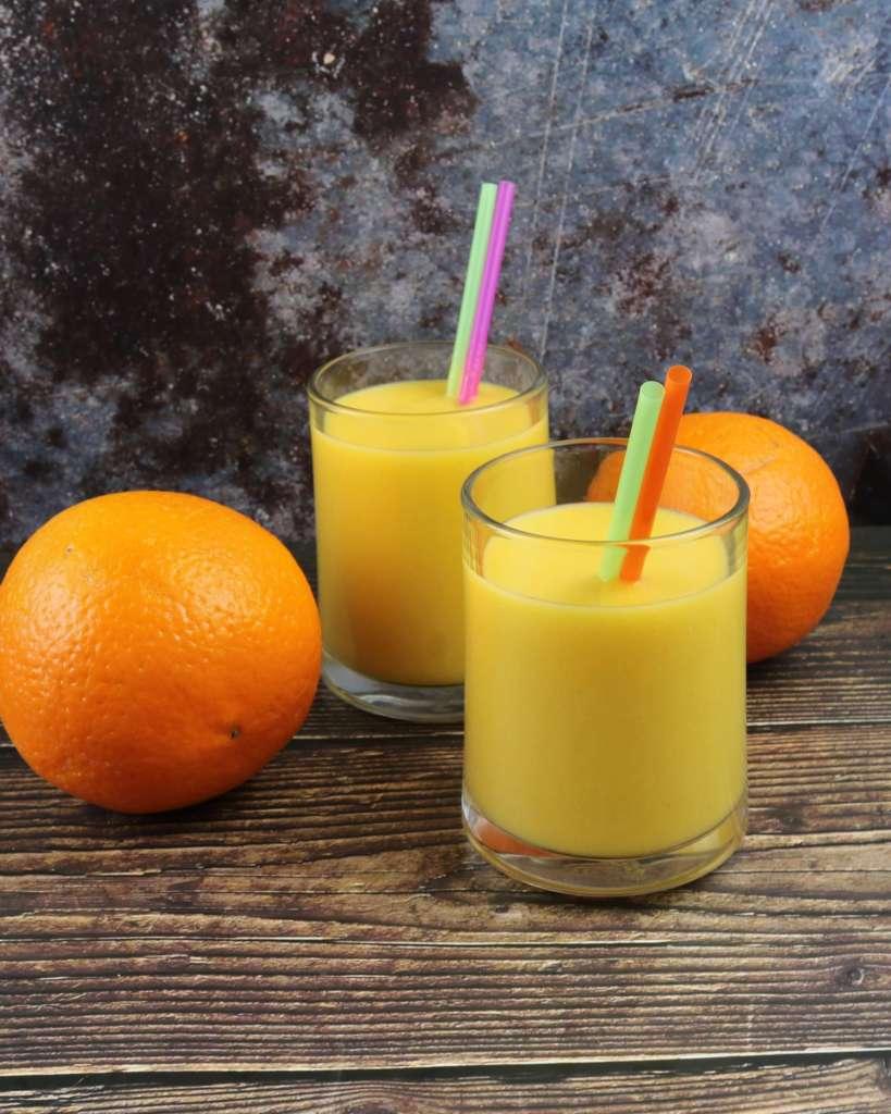 Serviervorschlag Orangen Mango Smoothie