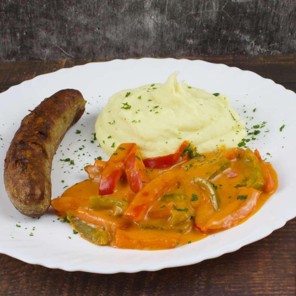 Zubereitung Paprika Rahm Gemüse