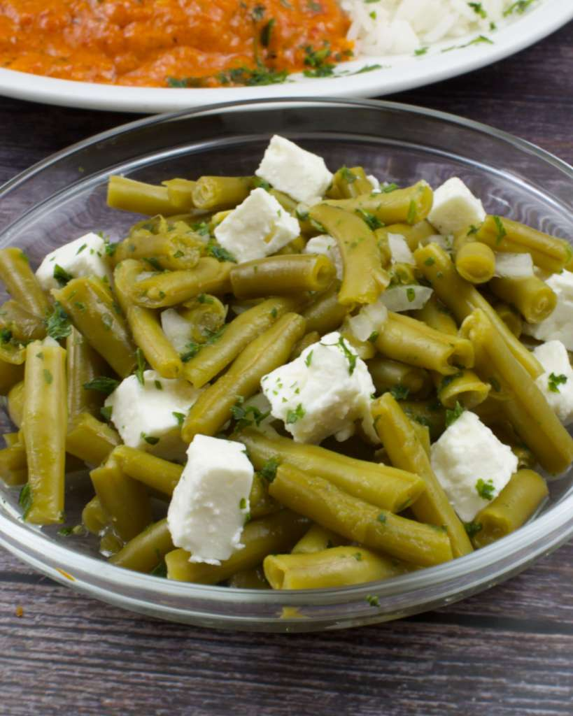 Zubereitung Bohnensalat mit Feta Käse