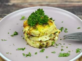 Cremiges Kartoffelgratin mit Frischkäse