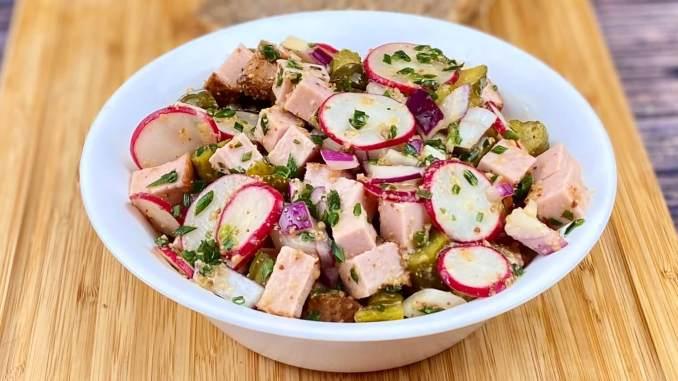 Leberkäse - Radieschen Salat