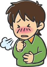 咳する少年