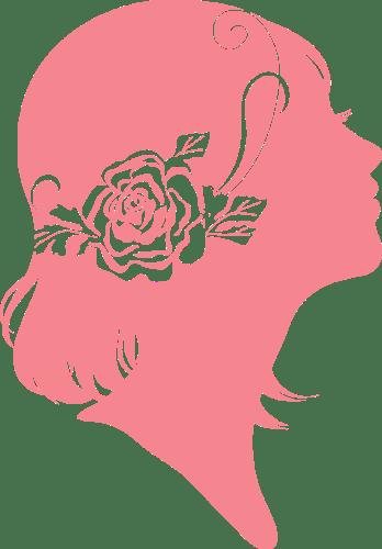上を見上げる少女のイラスト