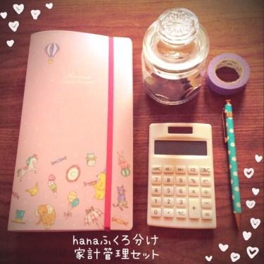 hana袋分けファイル家計簿セット画像