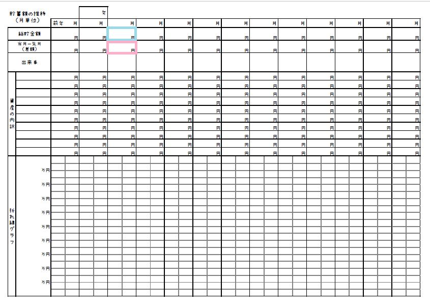 家計簿 フォーマット 無料 印刷