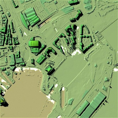 Zubr Augmented Reality 3D Terrain created with Welsh Government Open Source DSM