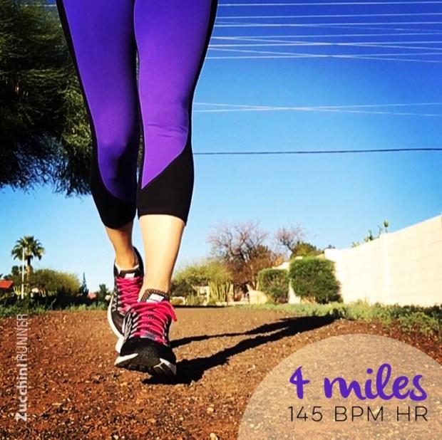 running 4 miles