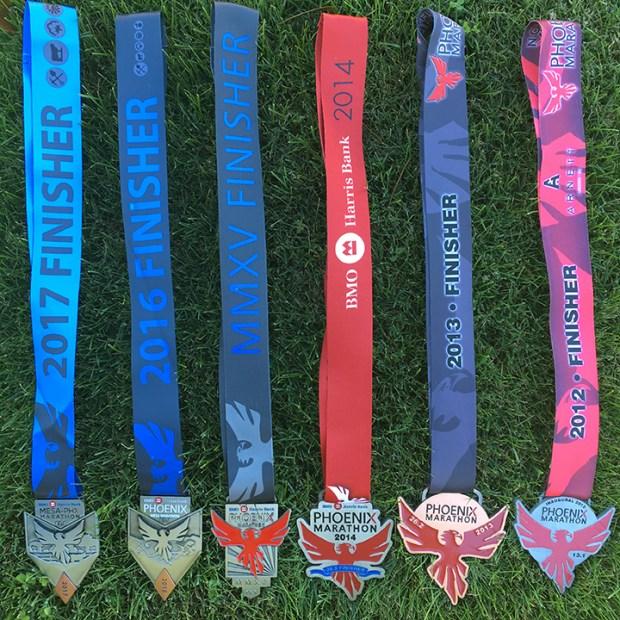 Mesa-Phx Half Marathon medals