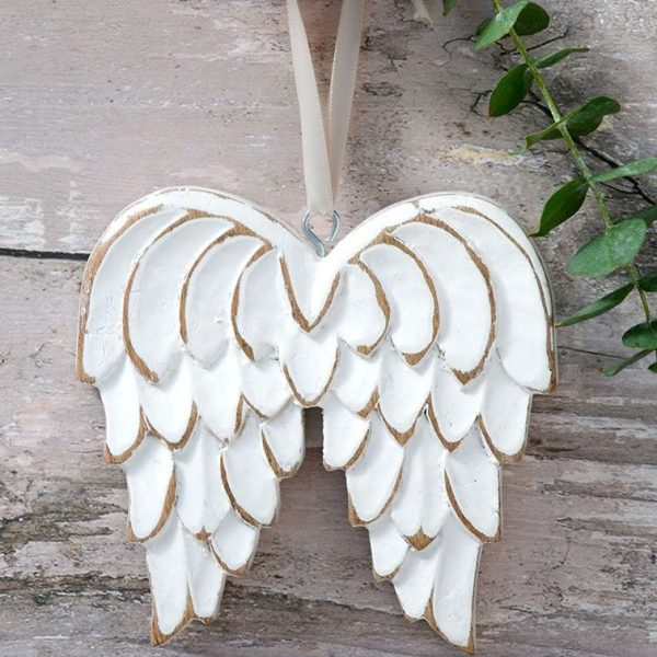 Retreat - Distressed Wood Angel Wings