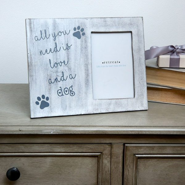 Retreat - White Dog & Love Frame