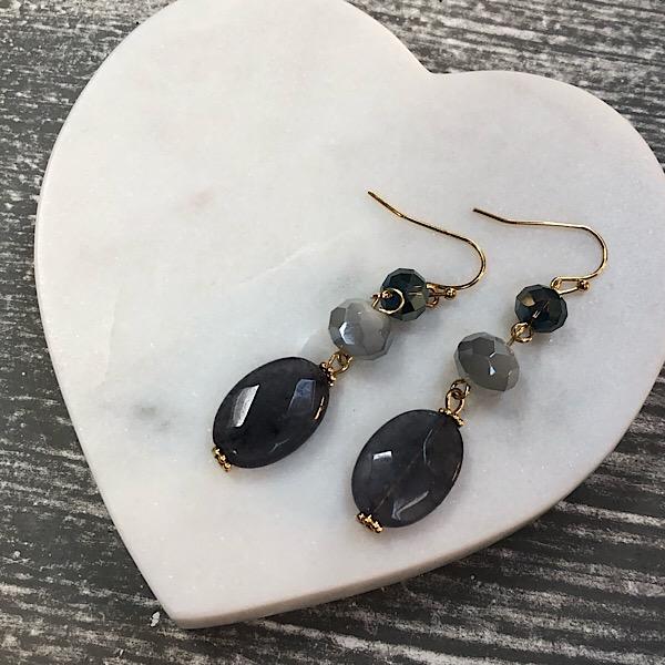 Beaded earrings Blue