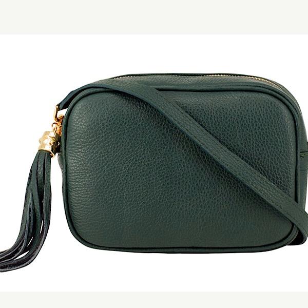 Italian Leather Tassell Dark Green