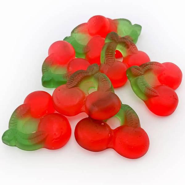 De Bron zuckerfreie Kirschgummis 90 g. 8 Stück Kirschgummies kaufen. Cherrygums ohne Zucker online kaufen