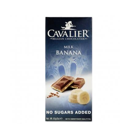 Cavalier Schokolade Milch Banane 85 g. Cavalier Low Carb Schokolade kaufen. Sorte: Milch Banane. Low Carb Schokolade (85g Tafel). Cavalier Schokolade kaufen