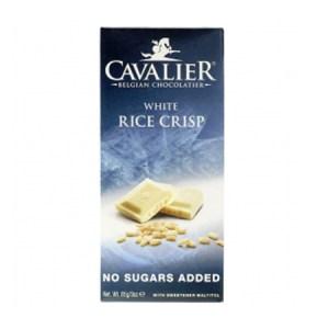 Cavalier Schokolade Weiss Rice Crisp 85 g Tafel. Low Carb Schokolade kaufen. Cavalier Schokolade Weiss Rice Crisp Tafel / Belgien online günstig kaufen.