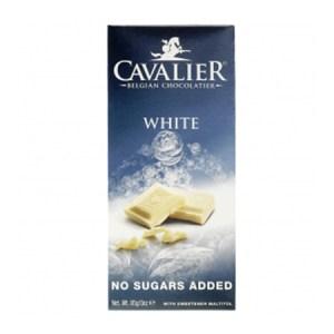 """Cavalier Schokolade """"Weiss"""" 85 g Tafel, zuckerfreie Schokolade kaufen. Schokolade ohne Zucker kaufen. Cavalier Schokolade ohne Zucker kaufen."""