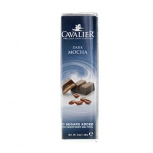 Cavalier Schokoriegel Dark Mocha 42 g, Low Carb Schokoriegel. Cavalier Schokolade kaufen, im Zucker-frei Online Shop. Schokoriegel Sorte Dark Mocha kaufen.