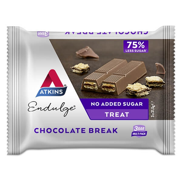 Atkins Endulge Bars Chocolate Break 64,5 g. Atkins Riegel, Low Carb kaufen. Low Carb Riegel mit über 4g Eiweiß kaufen. Gesüßt mit Sucralose & Maltit
