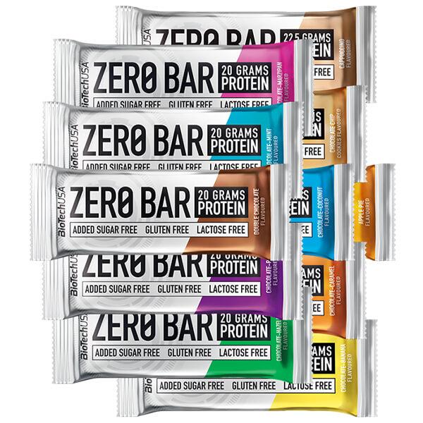 Biotech USA Zero Bar Schokolade-Pflaume Proteinriegel 50 g, Zero Bar BioTech usa pflaume