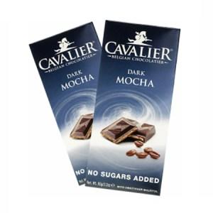 Cavalier Schokolade Dark Mocha 90 g Tafel. Low-Carb Cavalier Schokolade kaufen. Belgische Edelschokolade von Cavalier im zucker-frei Shop kaufen.