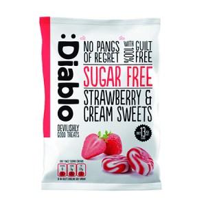 Diablo zuckerfreie Bonbons Erdbeer-Sahne 75 g / Zuckerfreie Bonbons bestellen! Zuckerfreie Bonbons kaufen & bestellen. Hier zuckerfreie Sahne Bonbons kaufen