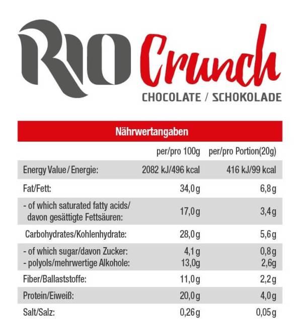 GOT7 Rio Crunch Waffelsnack Schokoladengeschmack 20 g. Zuckerfreie Waffeln kaufen, Waffeln ohne Zucker kaufen. GOT7 Waffeln kaufen.