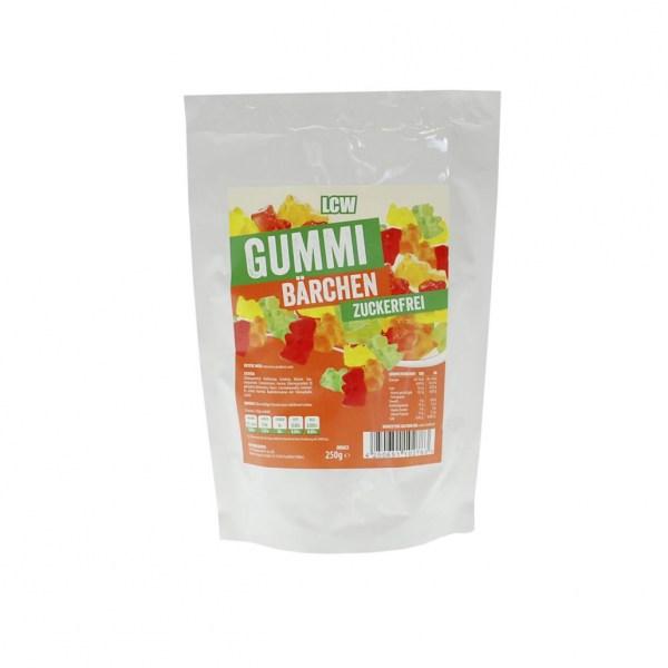 LCW Gummibärchen 250 g, Gummibärchen ohne Zucker kaufen. Zuckerfreie Gummibärchen, Low Carb Gummibärchen, Zuckerfreie Süßigkeiten, Süßigkeiten ohne Zucker kaufen.