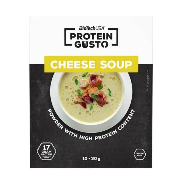 BioTech USA Protein Gusto Protein Gusto Cheese Soup proteinreiche Käsesuppe 10 x 30g Packung