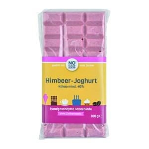 Handgeschöpfte Schokolade zuckerfrei Himbeer Joghurt No Sugar Sugar. zuckerfreie Schokolade kaufen. Schokolade ohne Zucker kaufen.