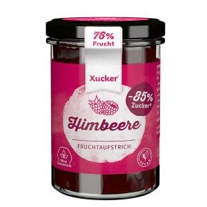 XUCKER Himbeere Fruchtaufstrich 74% mit Xylit 220 g Glas kaufen. Marmelade ohne Zucker von Xucker kaufen. Gesüßt mit Birkenzucker. Zuckerfreie Marmelade!