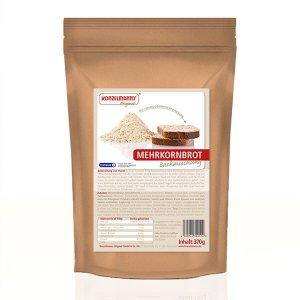 Konzelmanns Original Low-Carb Brotbackmischung Mehrkornbrot mit L-Carnithin 370 g Beutel kaufen. Low Carb Brot / Low Carb Backmischung für Low Carb Brot!
