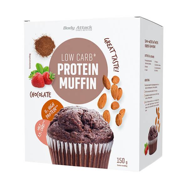 Body Attack Low Carb Protein Muffins Schokolade Backmischung 150 g Packung kaufen. Protein Muffins Schokolade online kaufen. 11 g Protein / Protein Muffin