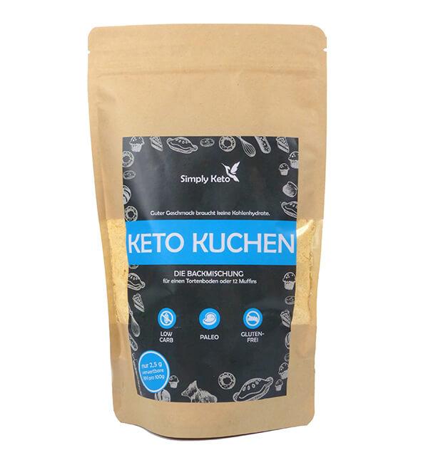 Simply Keto Kuchen Backmischung Low-Carb keto paleo glutenfrei laktosefrei 420 g Beutel kaufen. Simply Keto Low Carb Kuchen kaufen. Low Carb Kuchen im Shop!