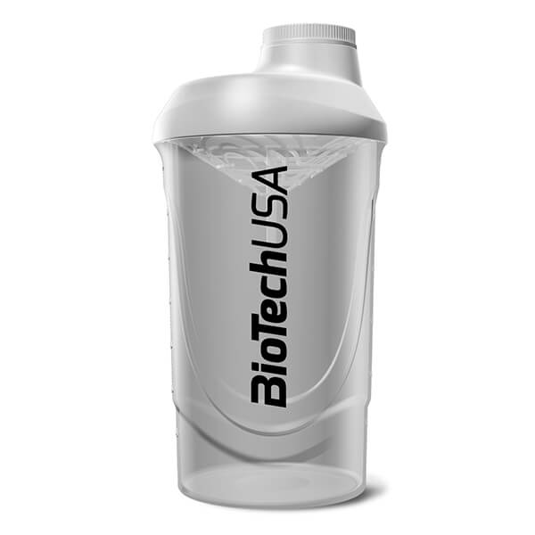 BioTech USA Shaker Wave Kunststoff 600 ml Transparent White kaufen
