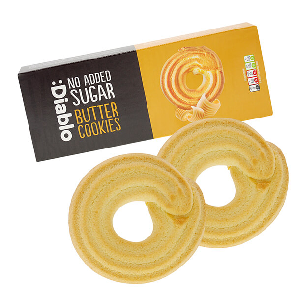 Diablo zuckerfreie Kekse Butter Cookies 135 g