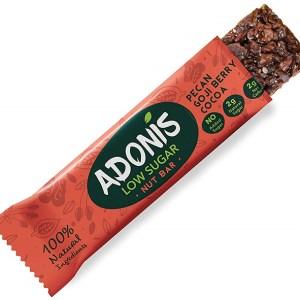 Adonis Nussriegel Müsliriegel Low-Carb glutenfrei vegan paleo Pecannuss Gojibeere Kakao 35 g Riegel . Adonis Nuss Riegel, Müsliriegel online kaufen