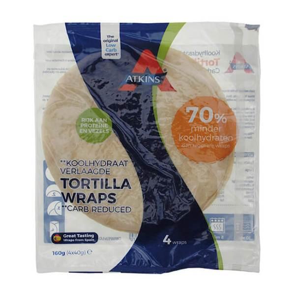 Atkins Tortilla Wraps 160 g Packung. Atkins Tortilla Wraps online kaufen. Perfekt für deine Diät, ohne Zucker, Low Carb und bereits fertig gebacken kaufen!