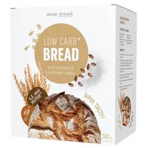 Body Attack Low-Carb-Bread Backmischung 360 g kaufen. Low Carb Brot kaufen. Schnell und einfach dank Backmischung. Eiweißreich und Low Carb Brot kaufen