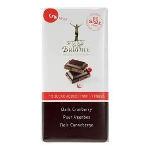 Balance Schokoladentafel Dark Cranberry ohne Zuckerzusatz 85 g. Zuckerfreie Schokolade / Schokolade ohne Zucker Zusatz von Balance Chocolate kaufen!