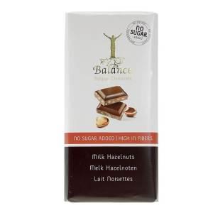 Balance Schokoladentafel Milk Hazelnuts ohne Zuckerzusatz 100 g. Zuckerfreie Schokolade / Schokolade ohne Zucker Zusatz von Balance Chocolate kaufen!