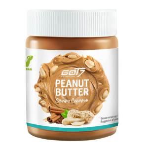 GOT7 Nutrition Peanut Butter chunky cinnamon zuckerfreie Erdnussbutter mit Erdnussstücken und Zimtgeschmack 500 g. GOT7 Nutrition Erdnussbutter kaufen.